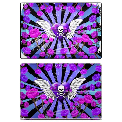 Microsoft Surface Pro 3 Skin - Skull & Roses Purple