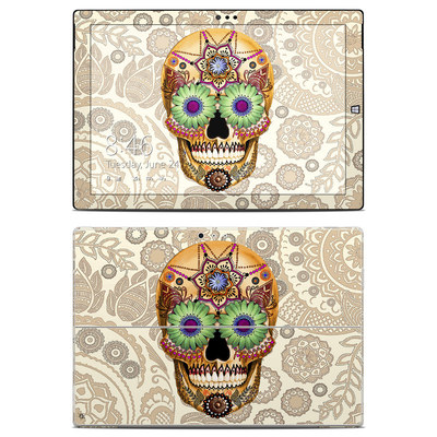 Microsoft Surface Pro 3 Skin - Sugar Skull Bone