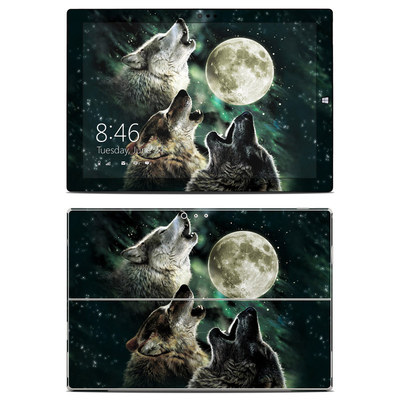 Microsoft Surface Pro 3 Skin - Three Wolf Moon