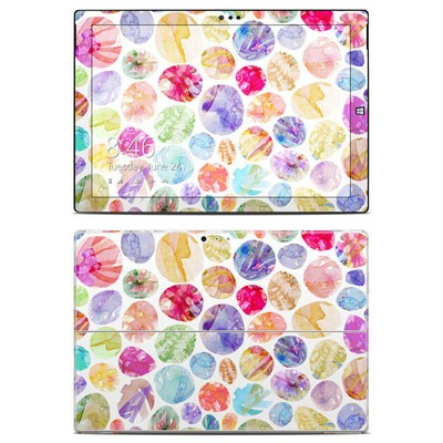 Microsoft Surface Pro 3 Skin - Watercolor Dots