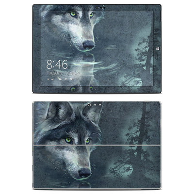 Microsoft Surface Pro 3 Skin - Wolf Reflection