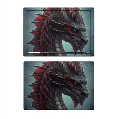 Microsoft Surface Pro 4 Skin - Black Dragon
