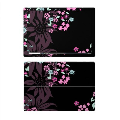 Microsoft Surface Pro 4 Skin - Dark Flowers