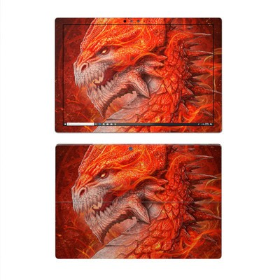 Microsoft Surface Pro 4 Skin - Flame Dragon