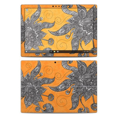 Microsoft Surface Pro 4 Skin - Orange Flowers