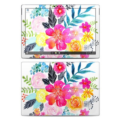 Microsoft Surface Pro 4 Skin - Pink Bouquet