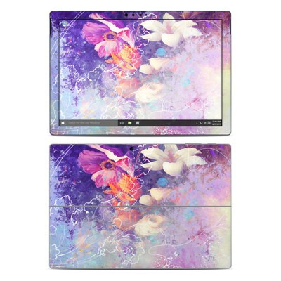 Microsoft Surface Pro 4 Skin - Sketch Flowers Lily