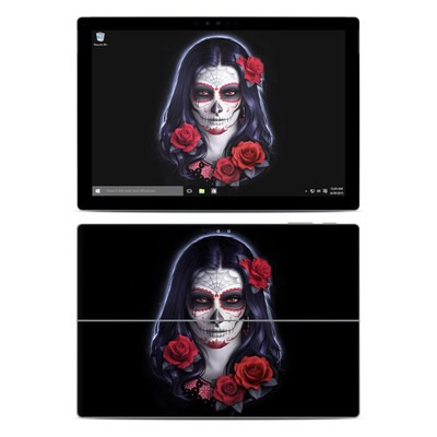 Microsoft Surface Pro 4 Skin - Sugar Skull Rose