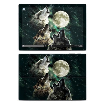 Microsoft Surface Pro 4 Skin - Three Wolf Moon