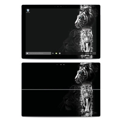 Microsoft Surface Pro 4 Skin - White Tiger