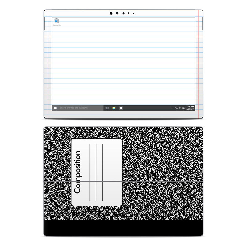 Microsoft surface pro 4 skin composition notebook