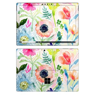 Microsoft Surface Pro 7 Skin - Loose Flowers