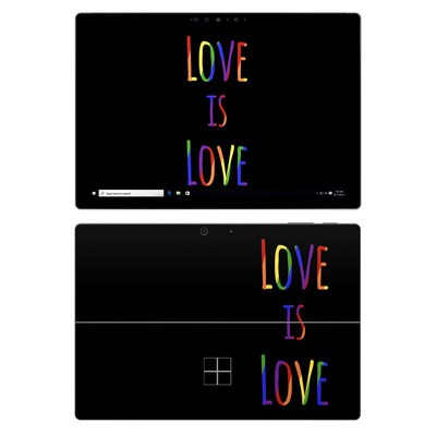 Microsoft Surface Pro 7 Skin - Love Is Love