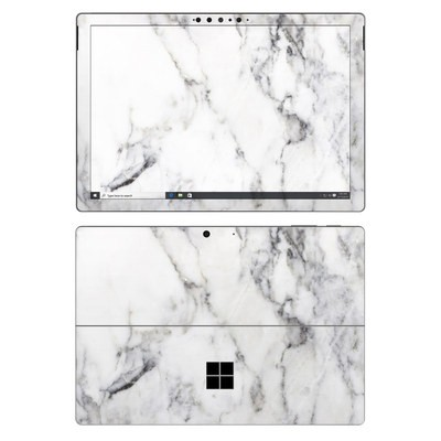 Microsoft Surface Pro 7 Skin - White Marble
