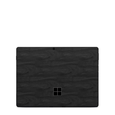 Microsoft Surface Pro X Skin - Black Woodgrain