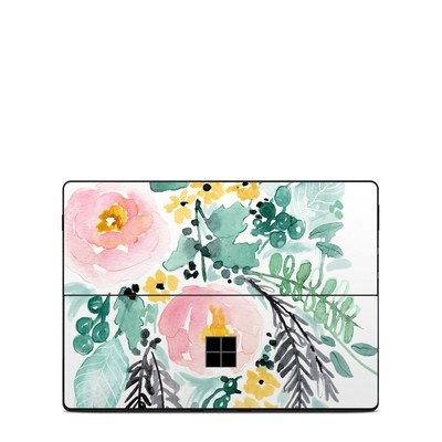 Microsoft Surface Pro X Skin - Blushed Flowers