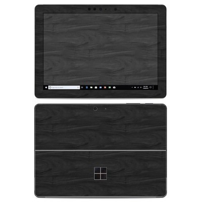 Microsoft Surface Go Skin - Black Woodgrain