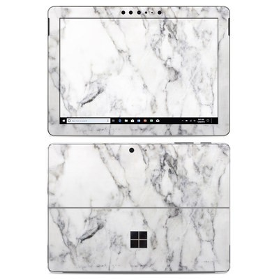 Microsoft Surface Go Skin - White Marble