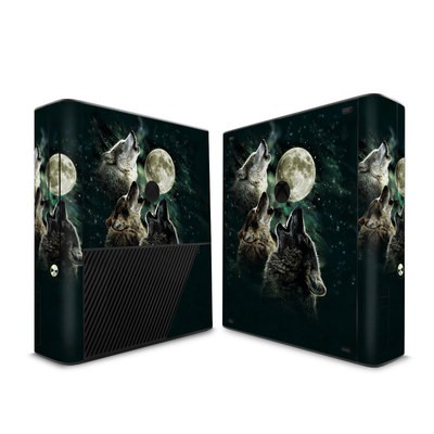 Microsoft Xbox 360 E Skin - Three Wolf Moon