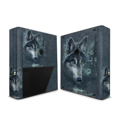 Microsoft Xbox 360 E Skin - Wolf Reflection
