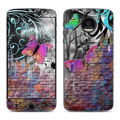 Moto Z Force Droid Skin - Butterfly Wall