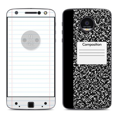 Moto Z Force Droid Skin - Composition Notebook