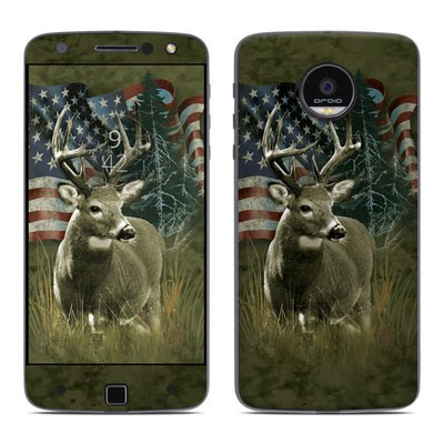 Moto Z Force Droid Skin - Deer Flag