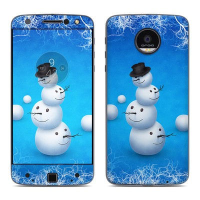 Moto Z Force Droid Skin - Merry Snowman