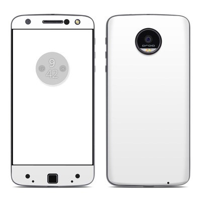 Moto Z Force Droid Skin - Solid State White