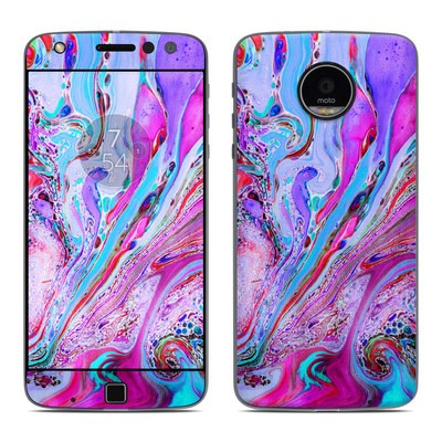Moto Z Play Droid Skin - Marbled Lustre