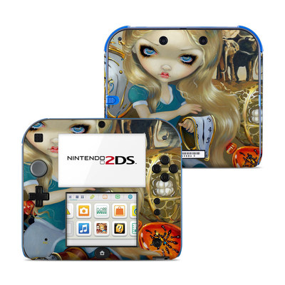 Nintendo 2DS Skin - Alice in a Dali Dream