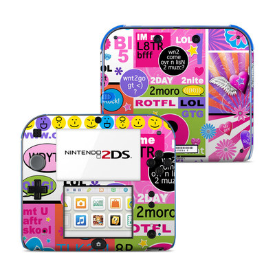 Nintendo 2DS Skin - BFF Girl Talk