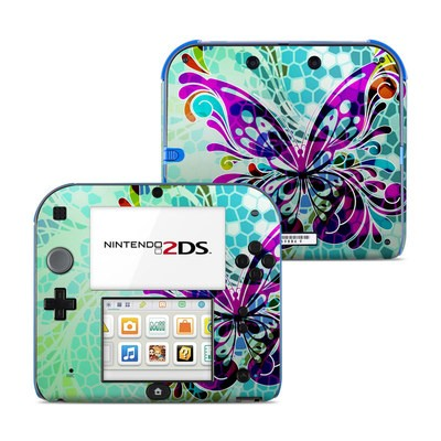 Nintendo 2DS Skin - Butterfly Glass
