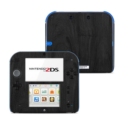 Nintendo 2DS Skin - Black Woodgrain