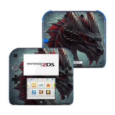 Nintendo 2DS Skin - Black Dragon