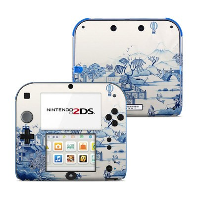Nintendo 2DS Skin - Blue Willow