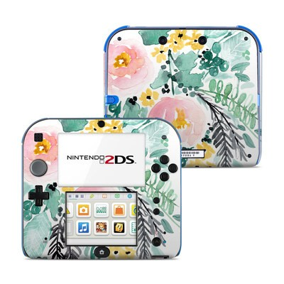 Nintendo 2DS Skin - Blushed Flowers