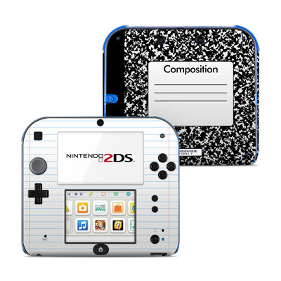Nintendo 2DS Skin - Composition Notebook