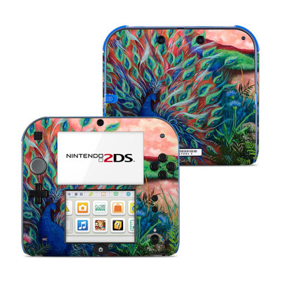 Nintendo 2DS Skin - Coral Peacock