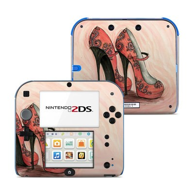 Nintendo 2DS Skin - Coral Shoes