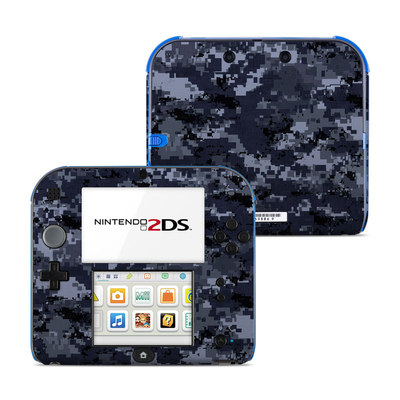 Nintendo 2DS Skin - Digital Navy Camo