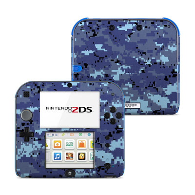 Nintendo 2DS Skin - Digital Sky Camo