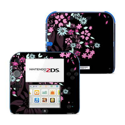 Nintendo 2DS Skin - Dark Flowers