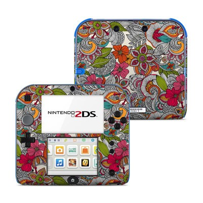 Nintendo 2DS Skin - Doodles Color