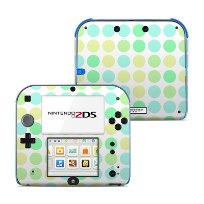 Nintendo 2DS Skin - Big Dots Mint