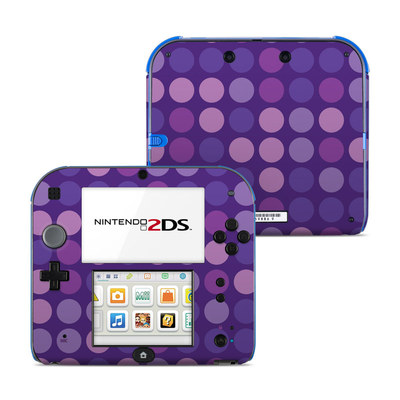 Nintendo 2DS Skin - Big Dots Purple