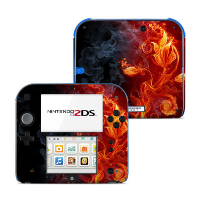 Nintendo 2DS Skin - Flower Of Fire