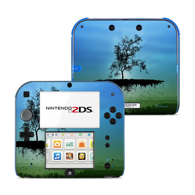 Nintendo 2DS Skin - Flying Tree Blue