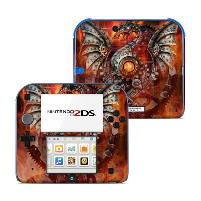 Nintendo 2DS Skin - Furnace Dragon