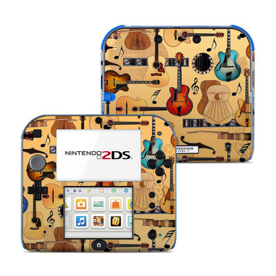 Nintendo 2DS Skin - Guitar Collage